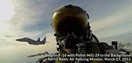 Belgian F-16 with Polish MiG-29