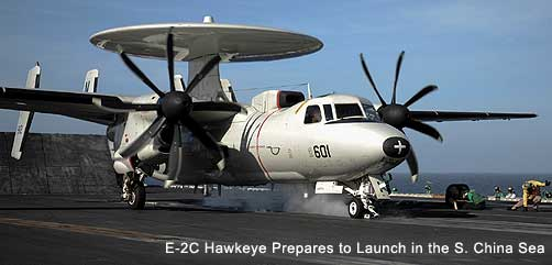 E-2C Preares to Launch in the S. China Sea - ALLOW IMAGES