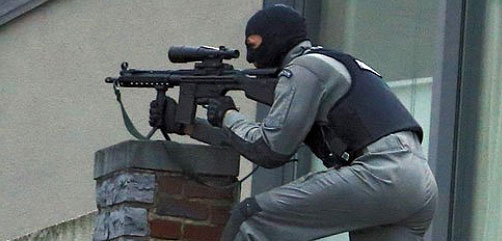 Belgian Police Sniper - ALLOW IMAGES