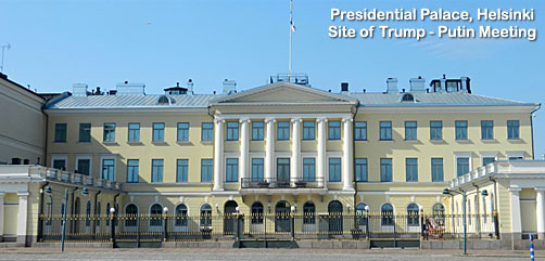 Presidential Palace, Helsinki, Finland, site of Trump-Putin meeting - ALLOW IMAGES