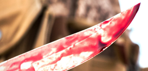 ISIS Bloody Knife - ALLOW IMAGES