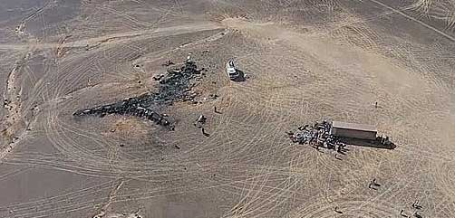 Aerial view of Russian MetroJet crash site - ALLOW IMAGES