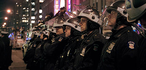 NYPD readies for election violence - ALLOW IMAGES