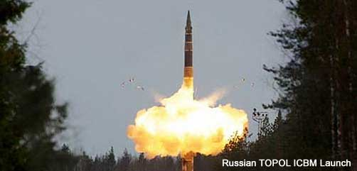 Russian TOPOL ICBM Launch - ALLOW IMAGES