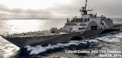 Littoral Combat Ship USS Freedom - ALLOW IMAGES