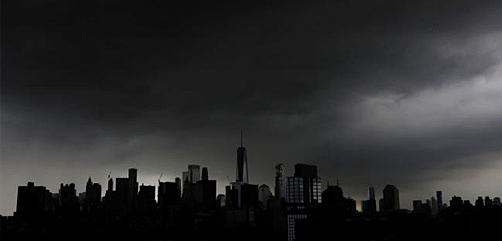 Storm clouds are gathering over New York and other cities in the U.S. - ALLOW IMAGES